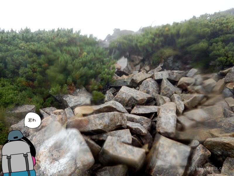 岩場を登ったら