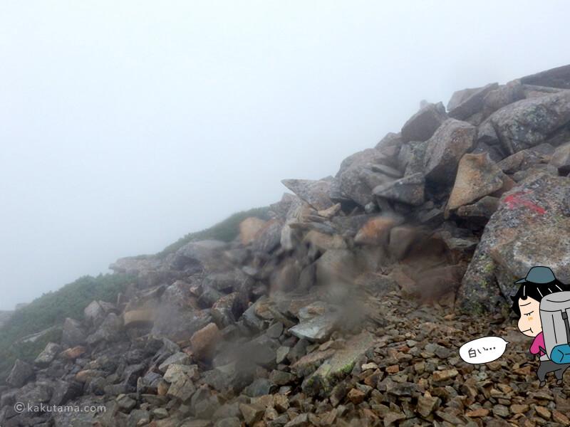 北薬師岳から間山へ向かう