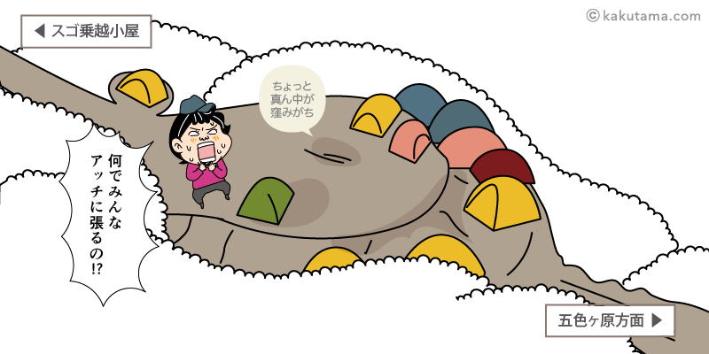 スゴ乗越テント場地図イラスト