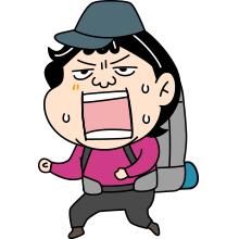 怒る登山者のイラスト008
