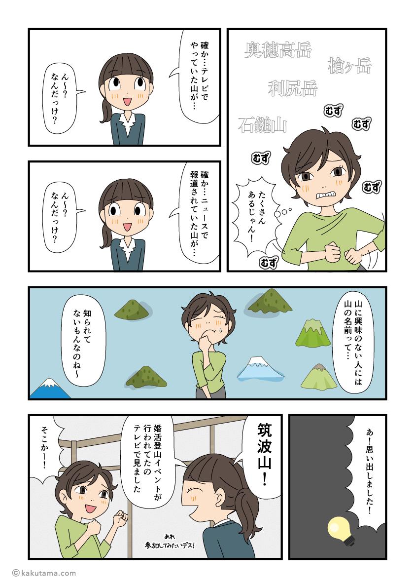 あなたが知っている山の名は?を聞く漫画2