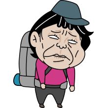 疲れた登山者のイラスト003