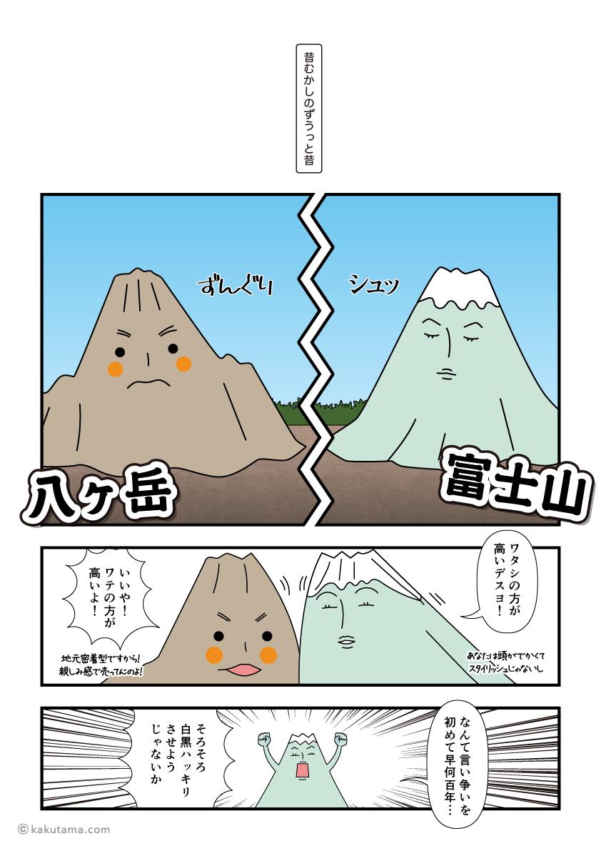 山の背比べ_富士山vs八ヶ岳2