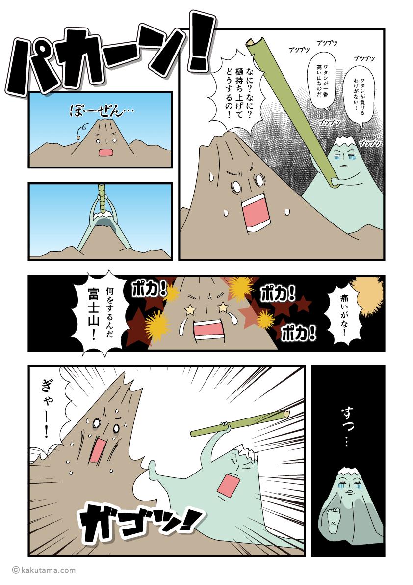 山の背比べの背景を考える漫画1