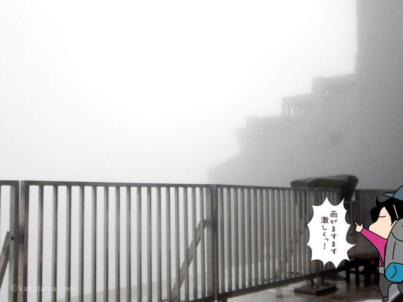 激しく振る雨