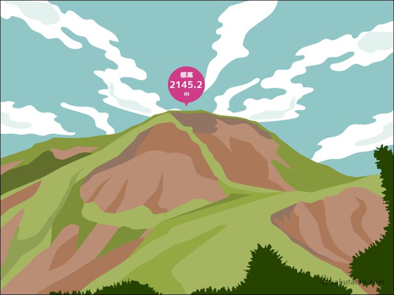 苗場山のイラスト