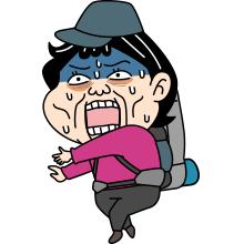 泣く_登山者のイラスト
