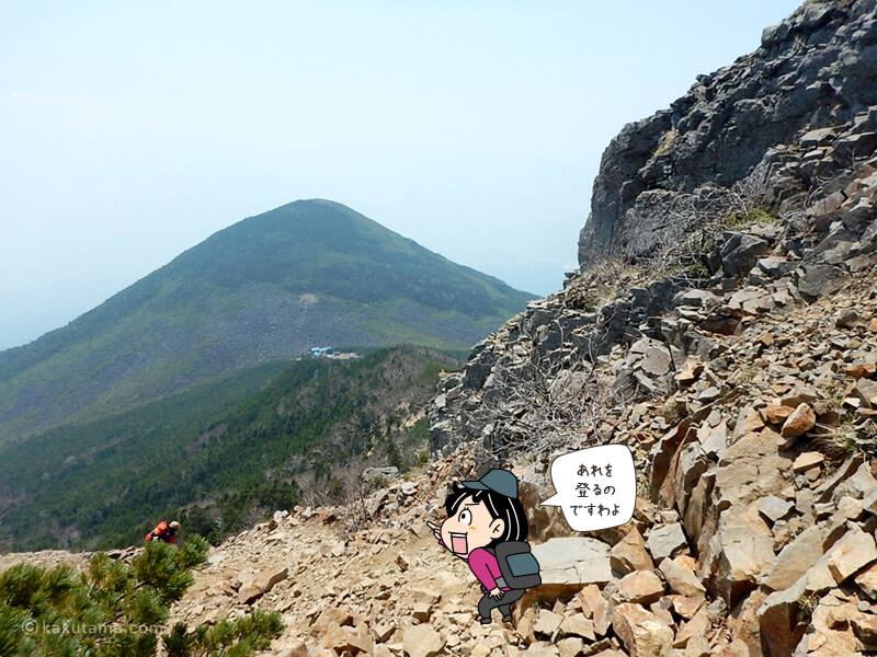 編笠山が見える