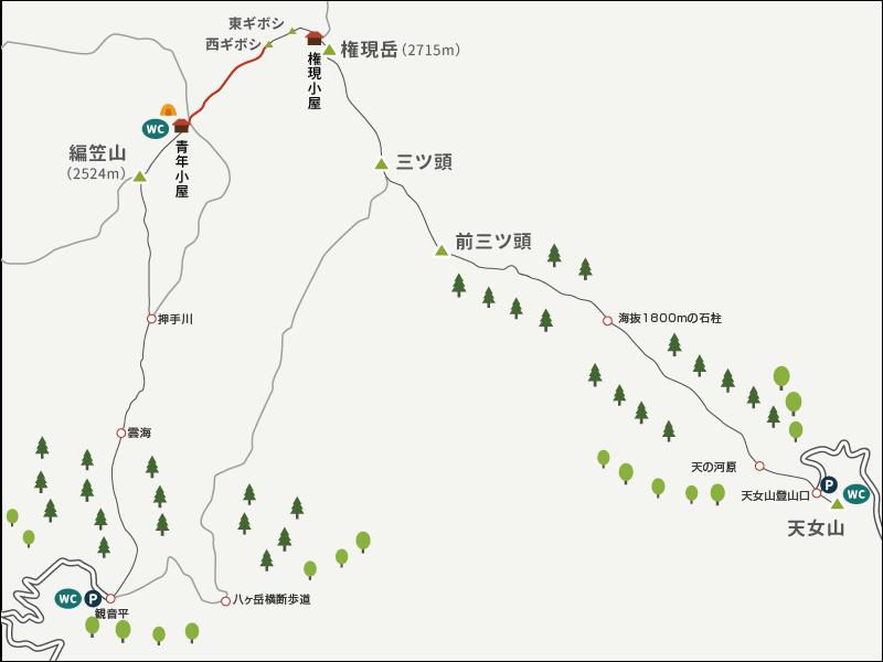 権現岳3イラストマップ2