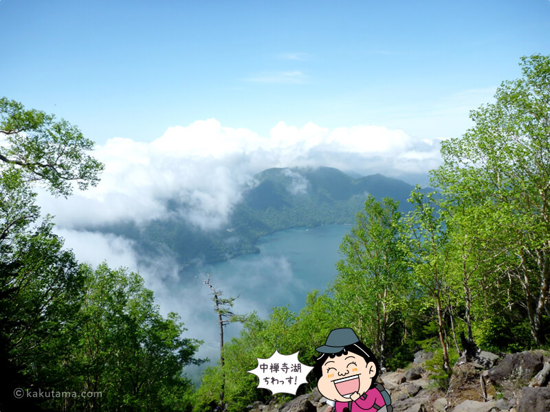 中禅寺湖が見える