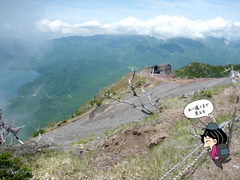 男体山山頂からの眺め