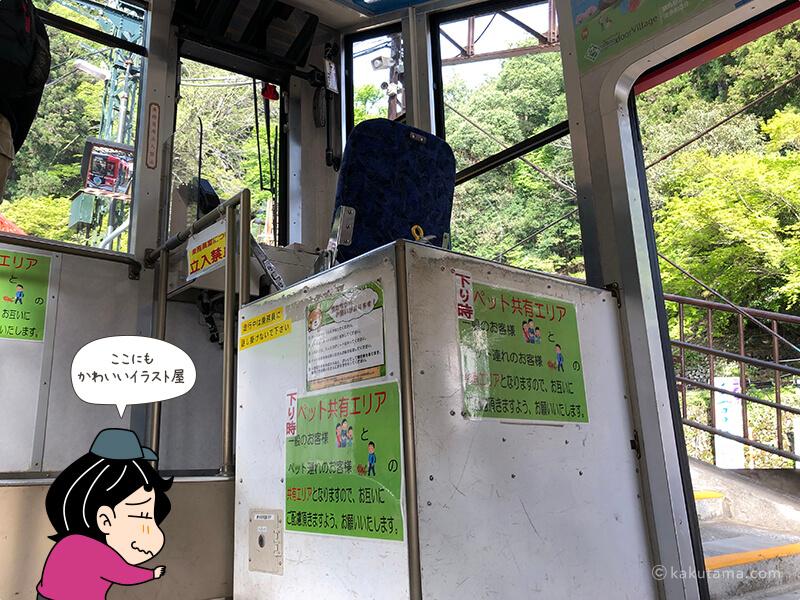 滝本駅からケーブルカー