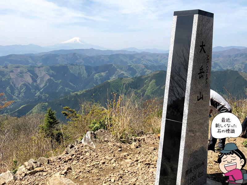 山頂に着いた