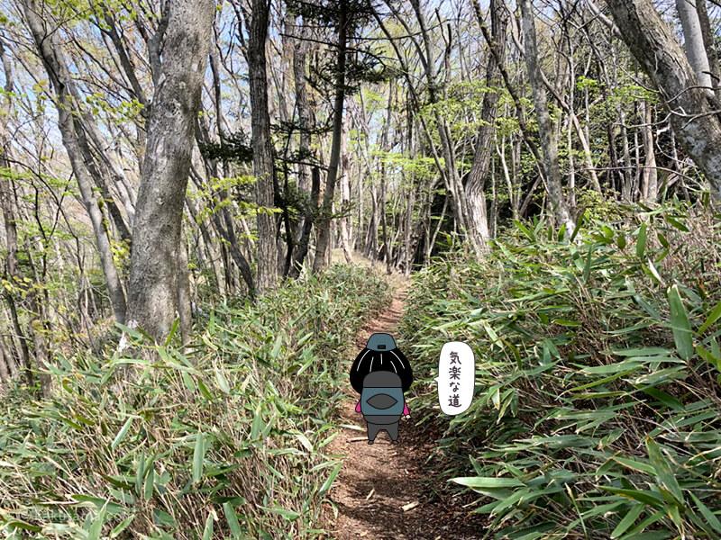 鋸山への登山道2