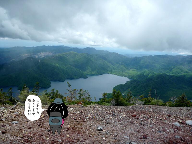 中禅寺湖を見返す