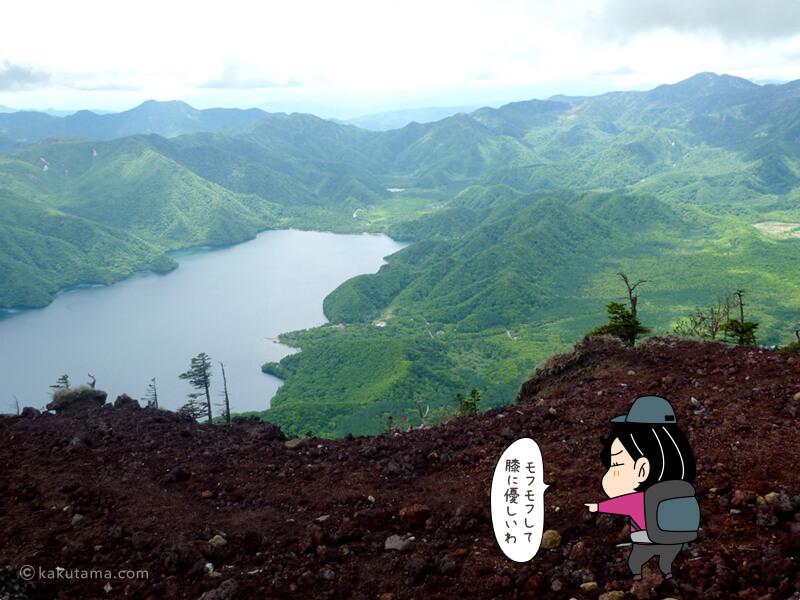 中禅寺湖が見下ろせる