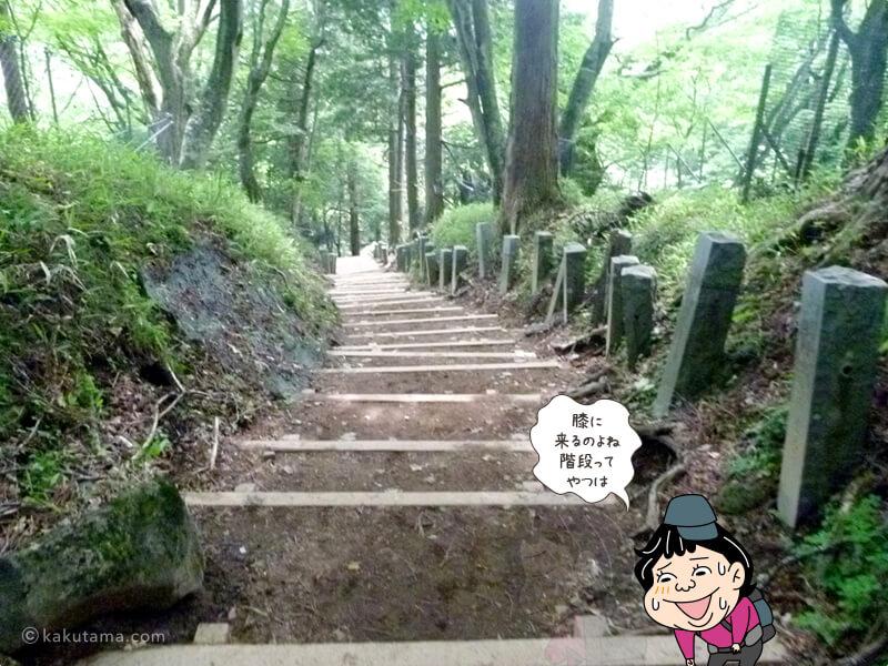 最後の下り階段