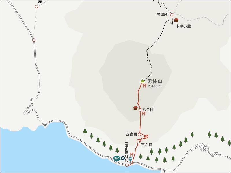 男体山イラストマップ