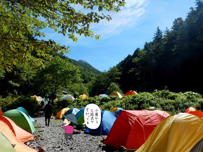 長衛小屋のテント場