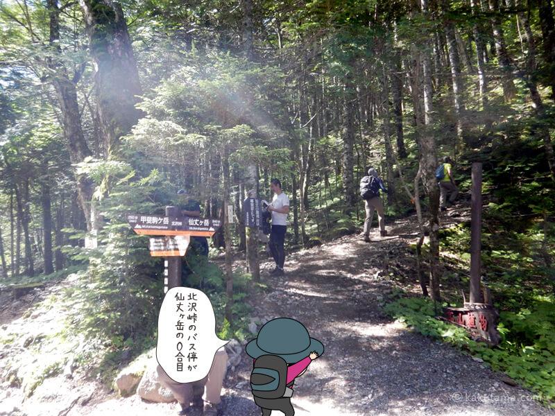 北沢峠、仙丈ヶ岳登山口
