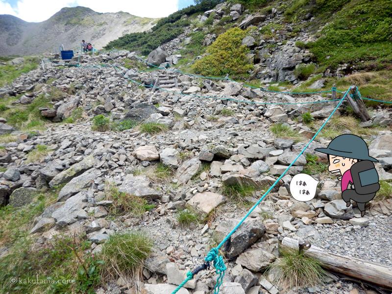 ひたらすら岩場を登る2