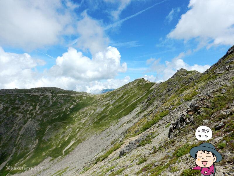 仙丈ヶ岳のカール