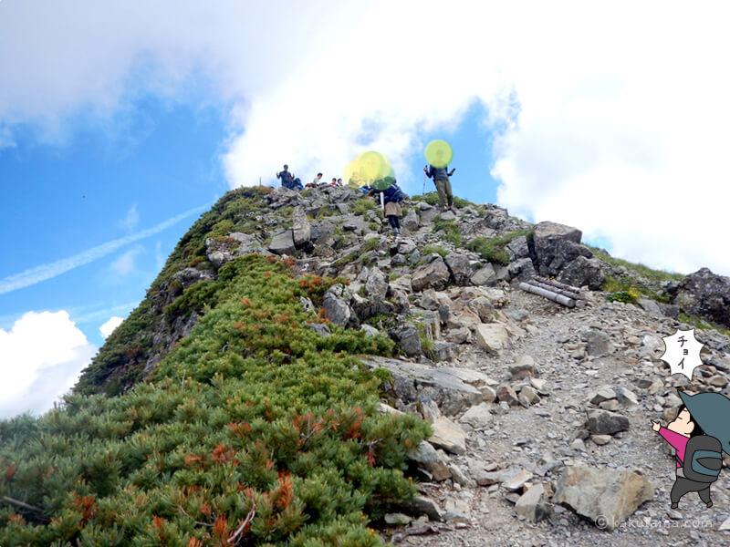 なかなかつかない山頂3