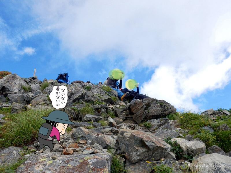 なかなかつかない山頂4
