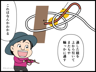 もやい結びに関する4コマ漫画3