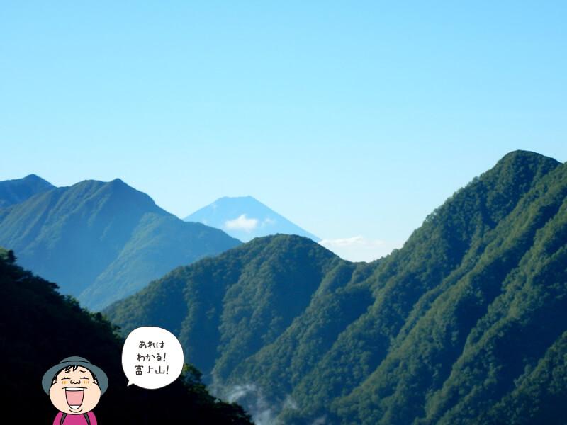 富士山が見える