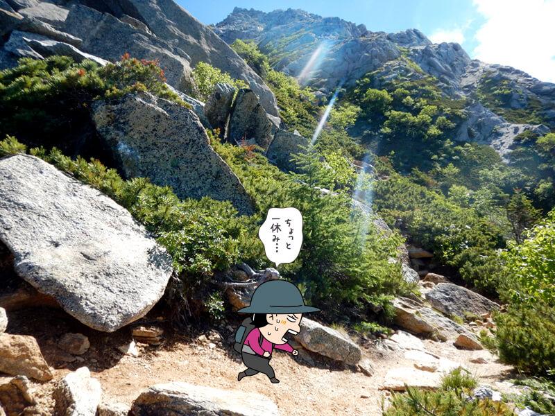 岩場を登る5