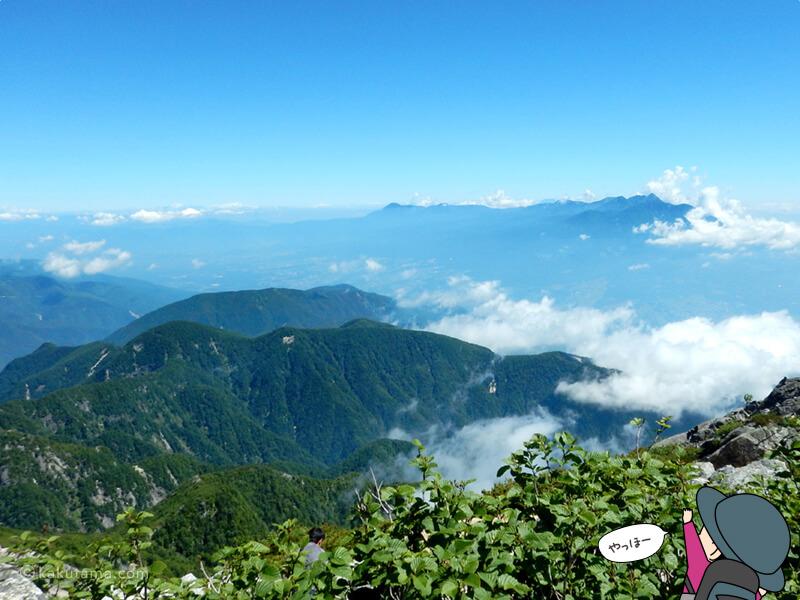 甲斐駒ケ岳摩利支天から見る風景