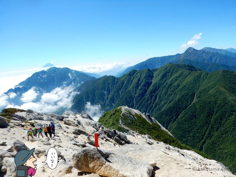 甲斐駒ケ岳山頂から下山2