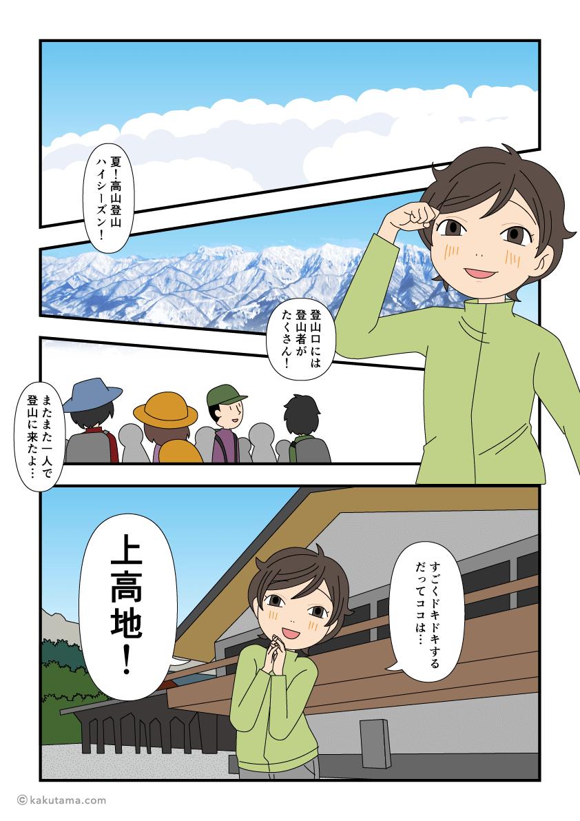 初めての北アルプス単独登山デビューの漫画1
