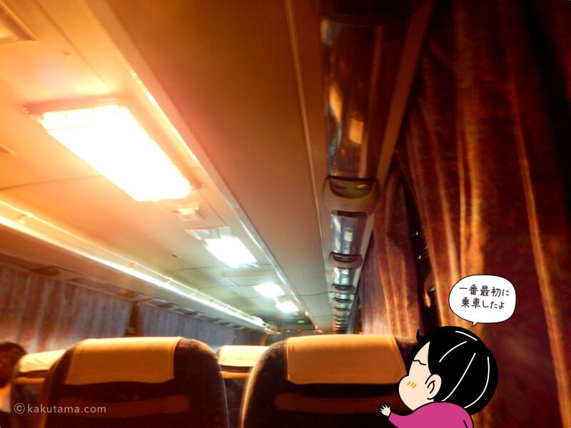 毎日アルペン新穂高温泉行きバス車内