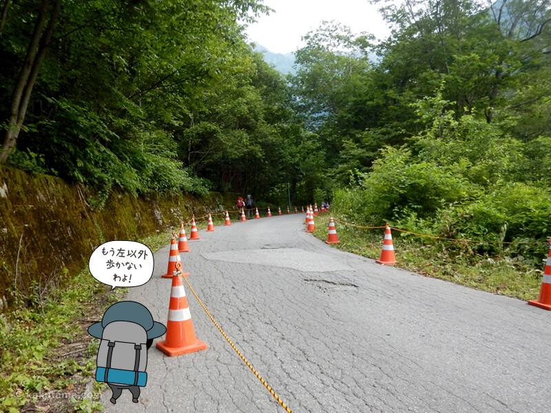 車道から林道へ