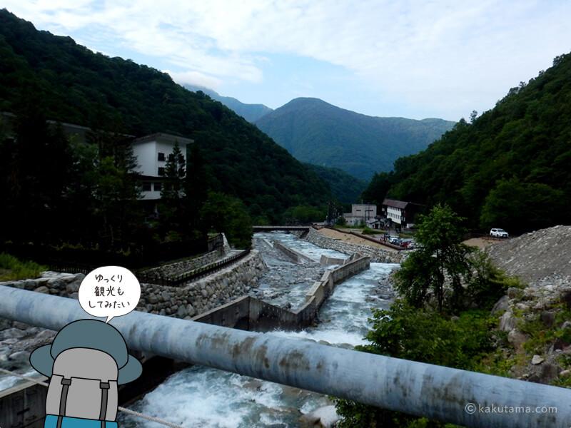 再び川を渡る