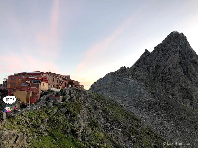 槍ヶ岳山荘の朝2