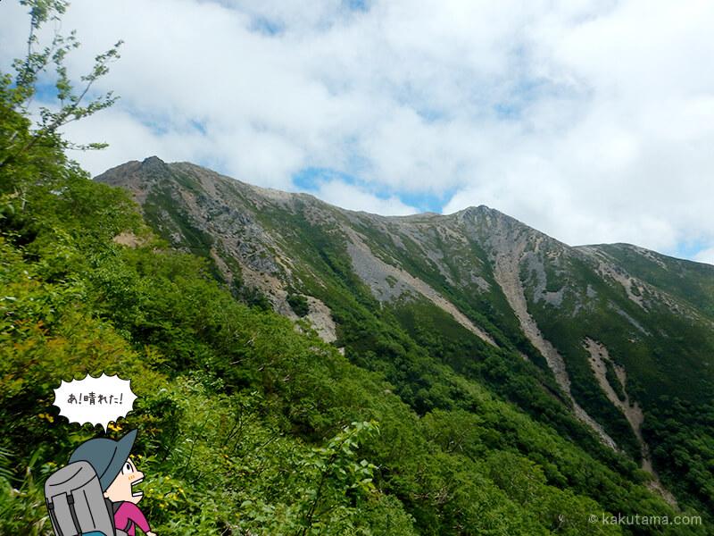 大天井岳が見えてきた