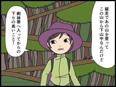 下山中に登山者を見て自画自賛する漫画1