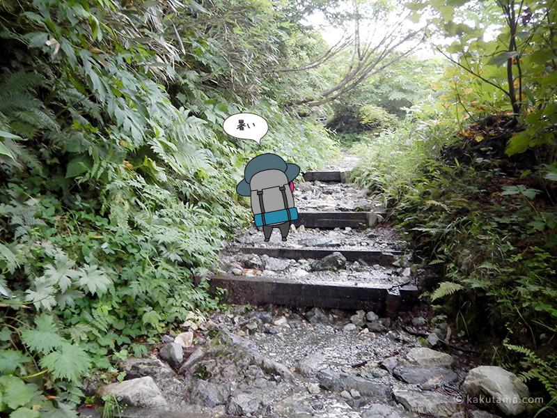 階段を登る2