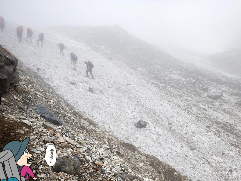 白馬大雪渓が広がる