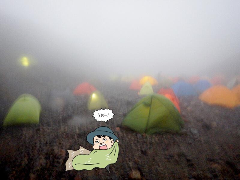 強風の中テントを撤収2