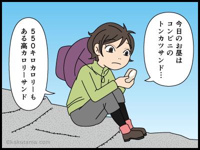疲れすぎて食欲がわかない登山者の漫画1