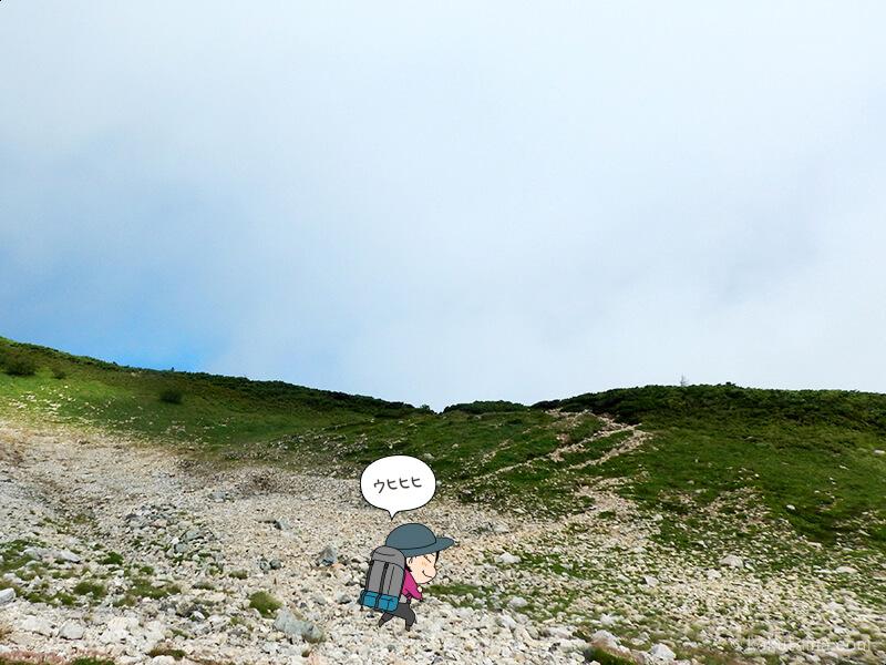 雪倉岳方面へ歩く5