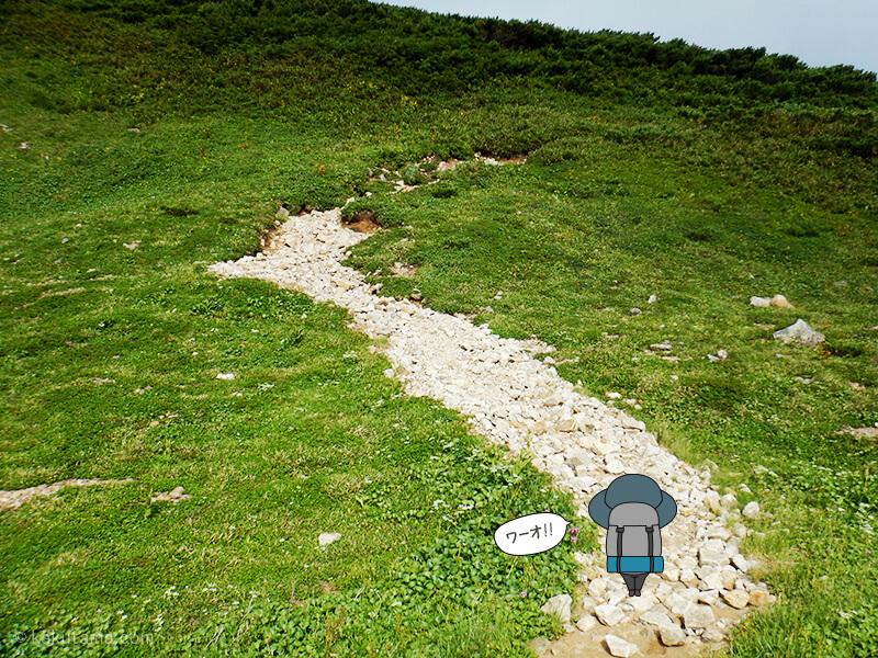 雪倉岳方面へ歩く6