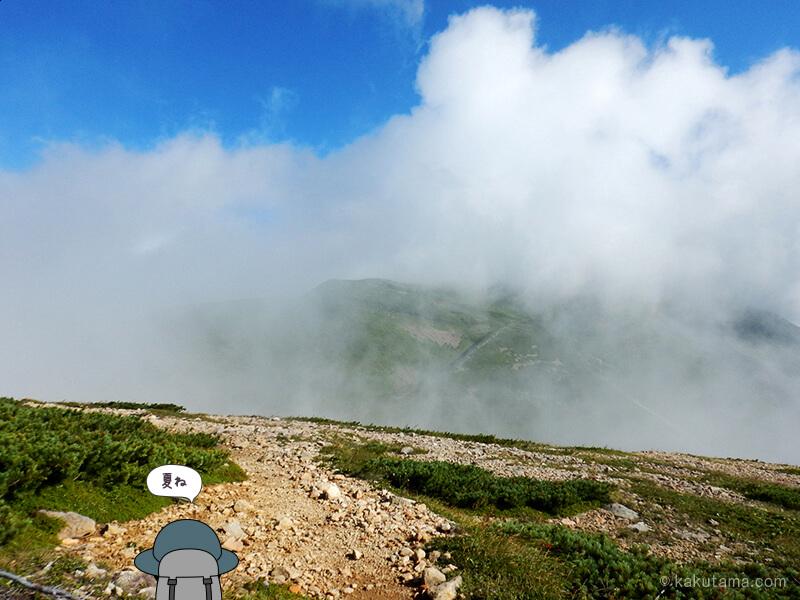 雪倉岳方面へ歩く7