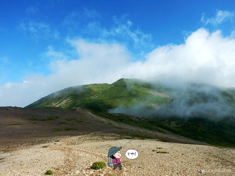 雪倉岳方面へ歩く8