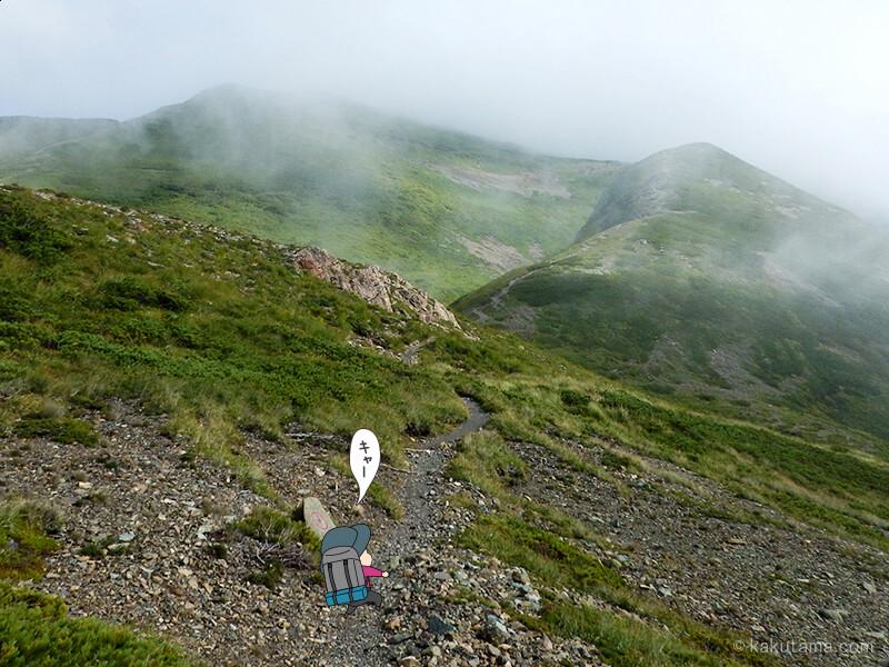 雪倉岳方面へ歩く9