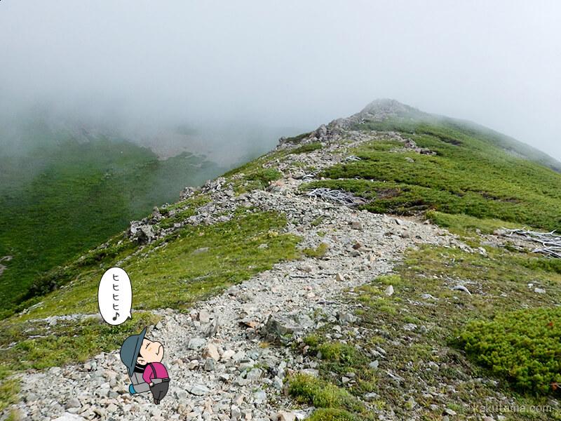 雪倉岳を目指して登る